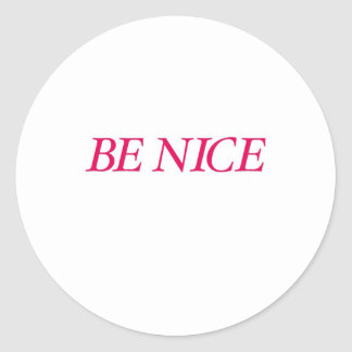 Be Nice (The Red Warrior) Classic Round Sticker
