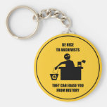 Be Nice to Archivists Basic Round Button Keychain
