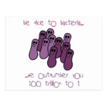 Be nice to bacteria post cards