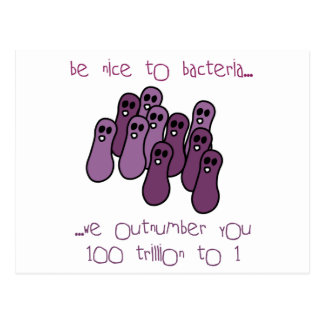 Be nice to bacteria postcard