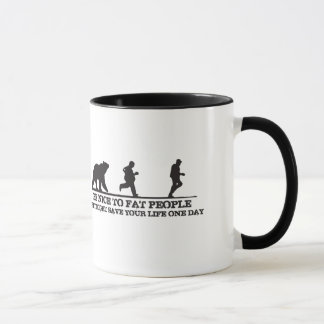 Be Nice To Fat People. They Might Save Your Life. Mug