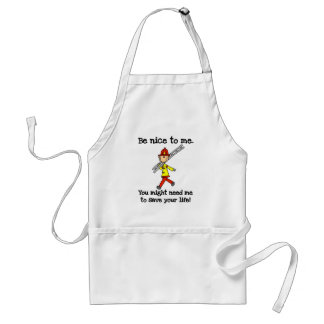Be Nice to Firefighters Adult Apron