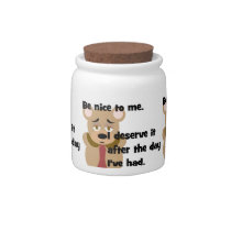 Be Nice to Me Candy Jar