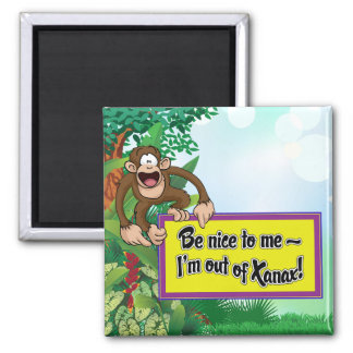 Be Nice to Me- I'm Out of Xanax! 2 Inch Square Magnet