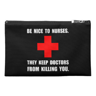 Be Nice To Nurses Travel Accessory Bags