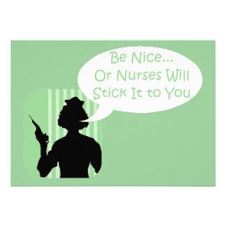 Be Nice to Nurses Week Custom Invite
