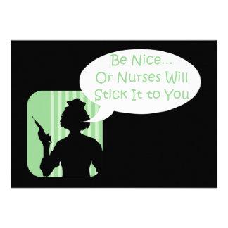 Be Nice to Nurses Week Personalized Invite