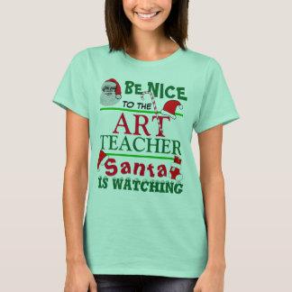 Be Nice to the Art Teacher Red T-Shirt