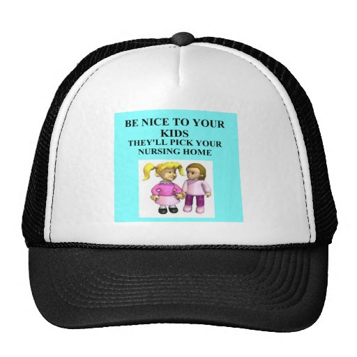 be nice to your kids hats