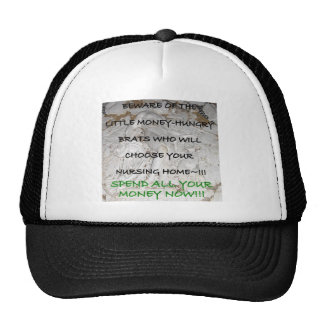 BE NICE TO YOUR KIDS NURSING HOME 8 TRUCKER HAT