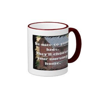 Be Nice To Your Kids Ringer Mug