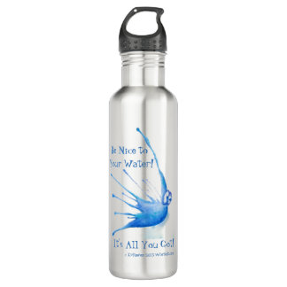 Be Nice to Your Water Bottle, Stainless Steel/24oz Stainless Steel Water Bottle