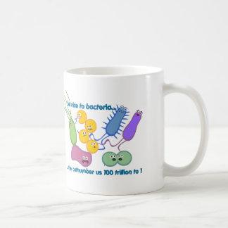 Be Nicer to Bacteria Classic White Coffee Mug