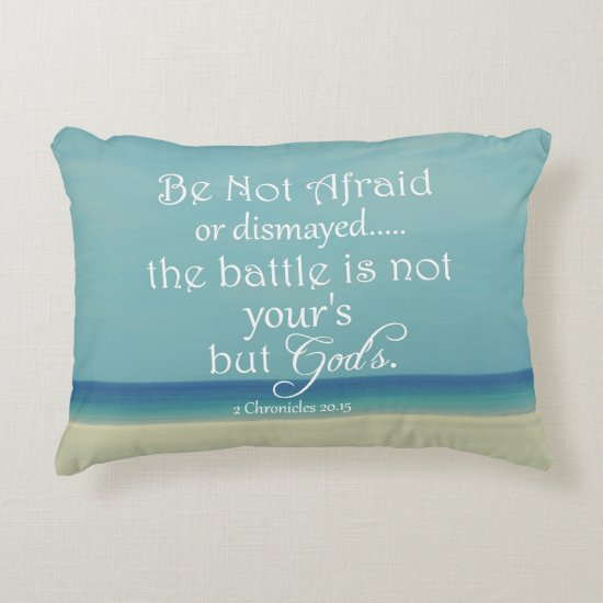 Be Not Afraid Bible Verse Accent Pillow