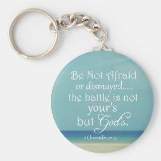 Be Not Afraid Bible Verse Basic Round Button Keychain