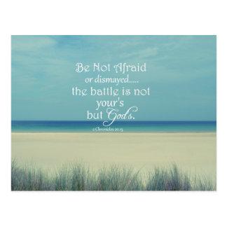 Be Not Afraid Bible Verse Postcard
