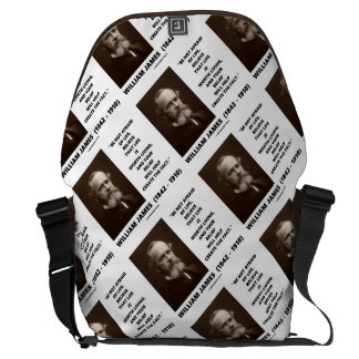 Be Not Afraid Of Life William James Quote Courier Bag