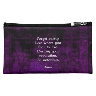 Be Notorious Rumi Inspirational Quote Cosmetic Bag