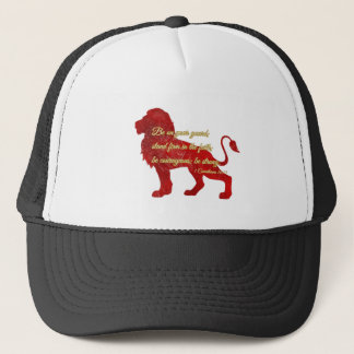Be on your guard; stand firm in the faith trucker hat