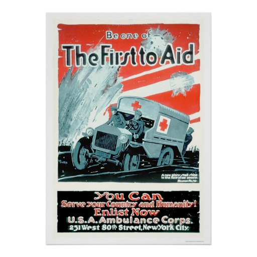 Be One of the First to Aid (US00268) Poster