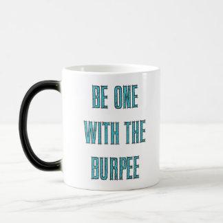 Be One With The Burpee Aqua Blue Etched Mug