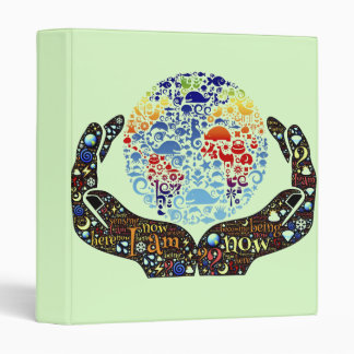 Be One With The Earth 3 Ring Binders
