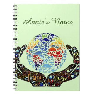 Be One With The Earth Spiral Notebook