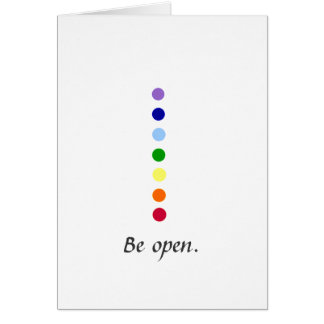Be Open - Simple Chakra Design Notecards Card