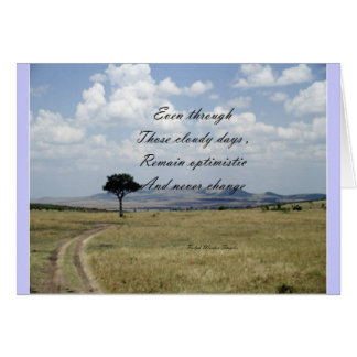 be optimistic card