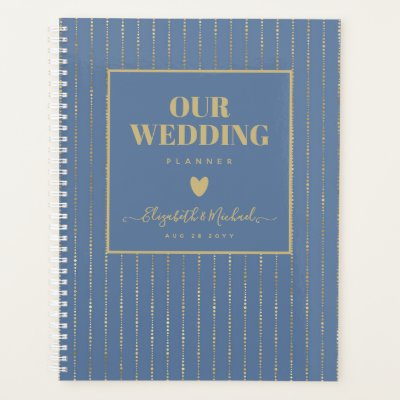 BE ORGANIZED WEDDING PLANNER - Dusty Blue GOLD