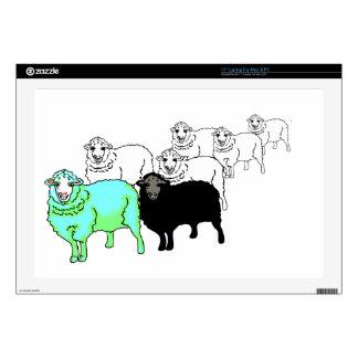 """Be Original- Aquamarine Sheep 17"""" Laptop Decals"""