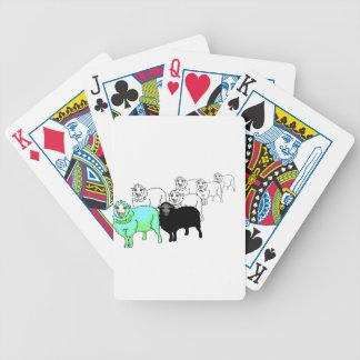 Be Original- Aquamarine Sheep Bicycle Playing Cards