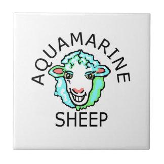 Be Original- Aquamarine Sheep Ceramic Tile