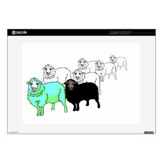 Be Original- Aquamarine Sheep Decals For Laptops