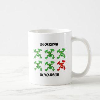 Be original frog coffee mug