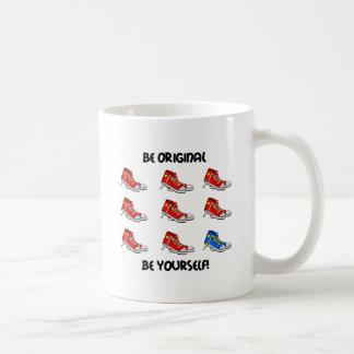 Be original sneakers coffee mug