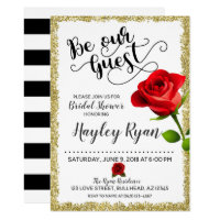 197cbfc3962 Be Our Guest Bridal Shower Invitation