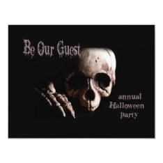 Be Our Guest Halloween Party Invitation at Zazzle