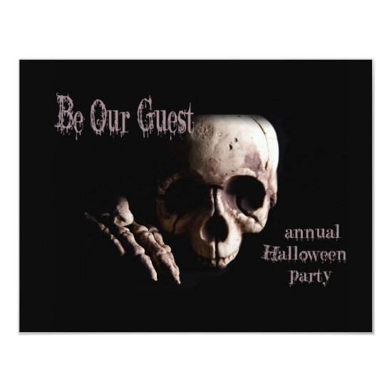 Be Our Guest Halloween Party Invitation