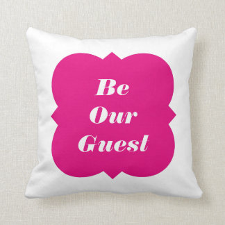Be Our Guest (Or Your Own Text) Throw Pillow