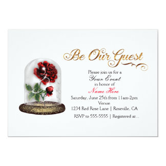 Be Our Guest Invitations Announcements Zazzle