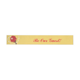 Be Our Guest-Red Rose Party Wrap Around Labels