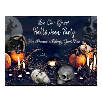 Be Our Guest, Spooky Halloween Party Invites