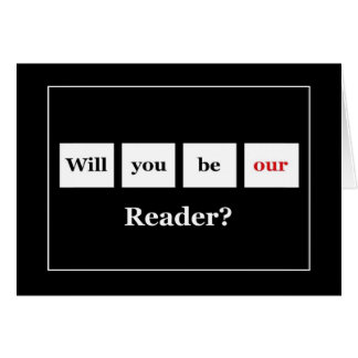Be our READER Squares Wedding Invitation Greeting Card