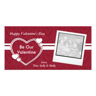 Be Our Valentine Valentine's Day Photocards Picture Card