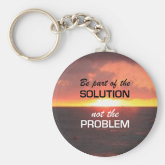 Be Part of the Solution Keychain