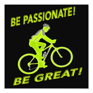 Be Passionate! Be Great! Mountain Biker Green Card