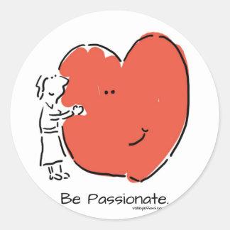 Be Passionate Classic Round Sticker