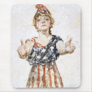 Be Patriotic-1917 - distressed Mouse Pad