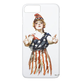 """Be Patriotic"" WWI Lady Liberty iPhone 7 Plus Case"